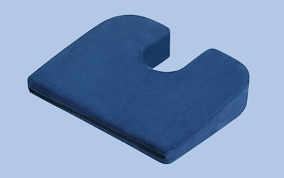 Blue seat cushion wedge