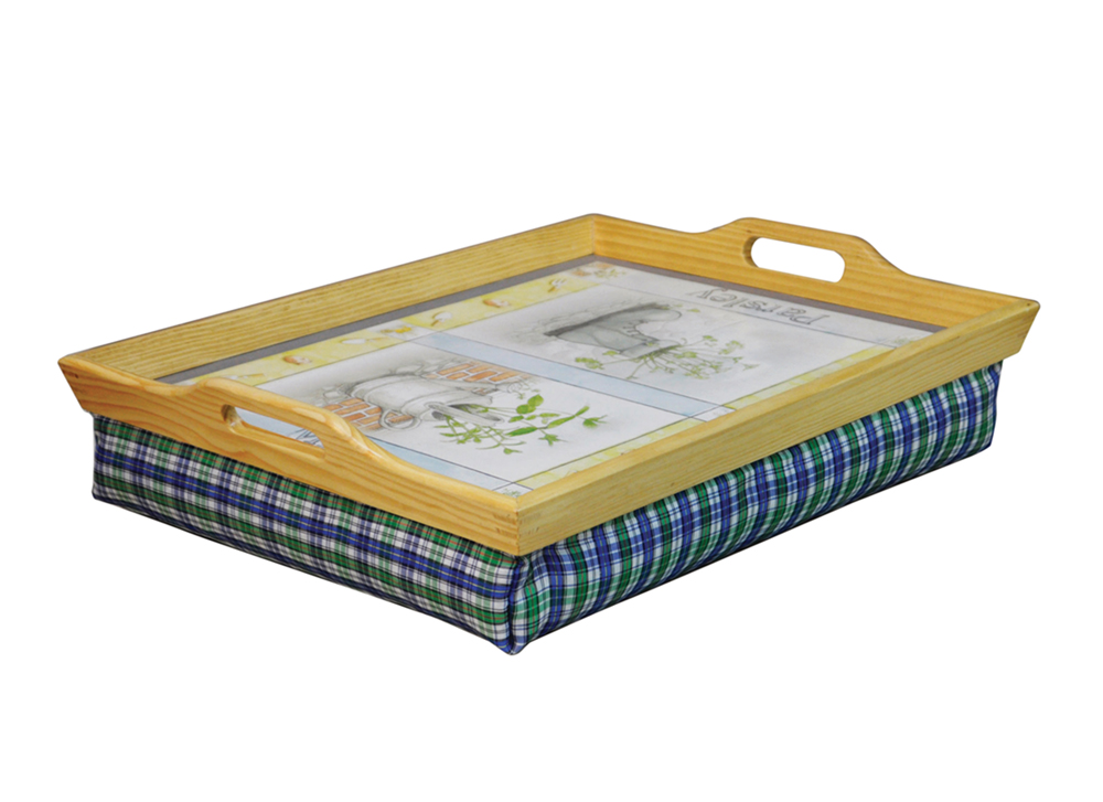 Wooden Lap Tray With Cushion Trays Manage At Home
