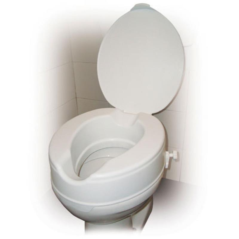 Raised Toilet Seat 4 Inch with Lid