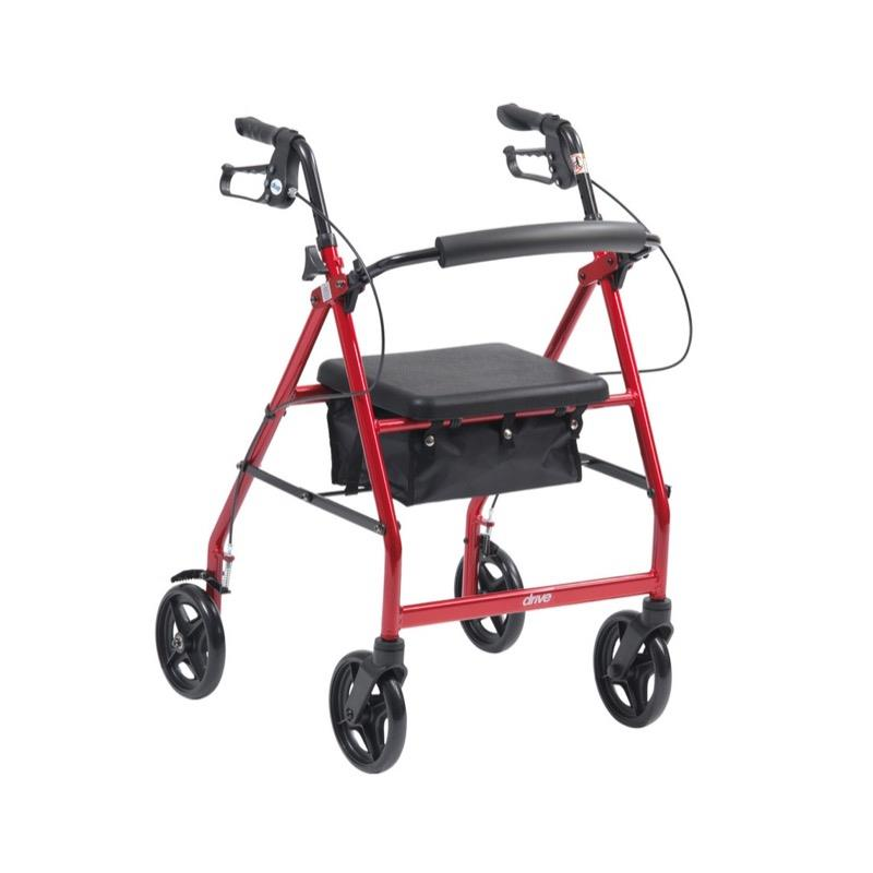 Lightweight Folding Rollator with Bag