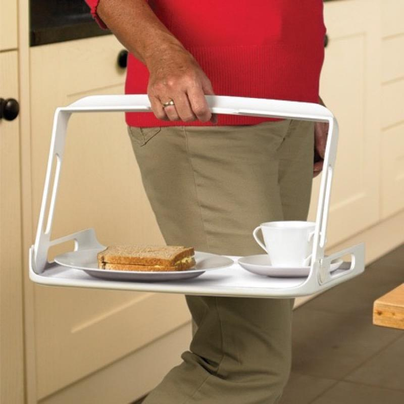 One Handed Tray with Non Slip Mat