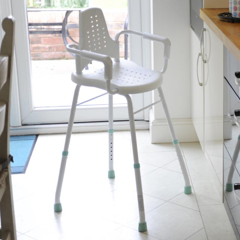Prima Modular Perching Stool with Arms and Back