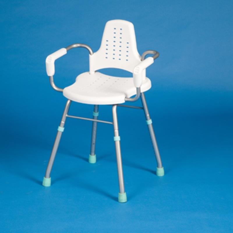 Prima Shower Stool with Arms and Back
