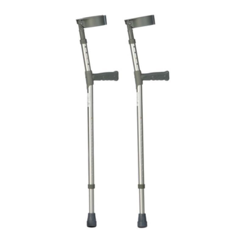 Double Adjustable Aluminium Forearm Crutches