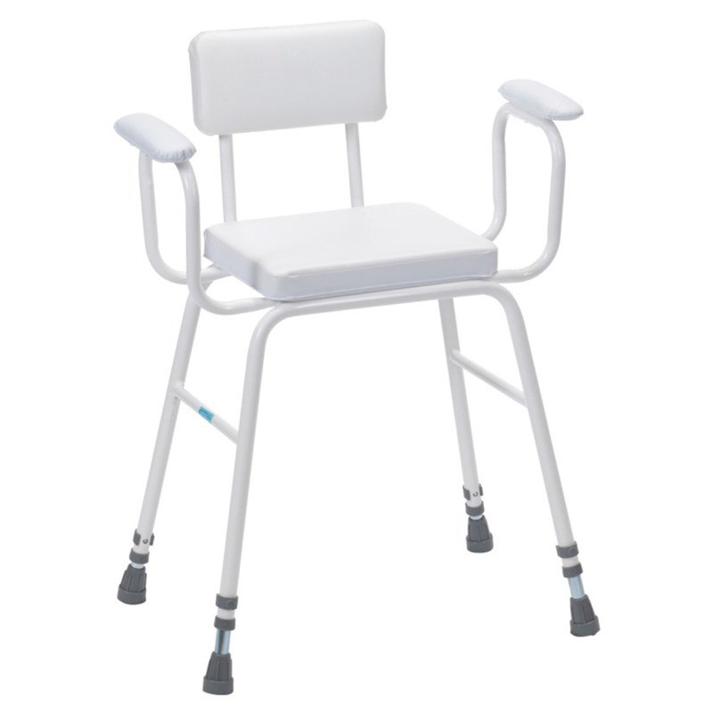 Perching Stool (Padded Arms and Backrest)