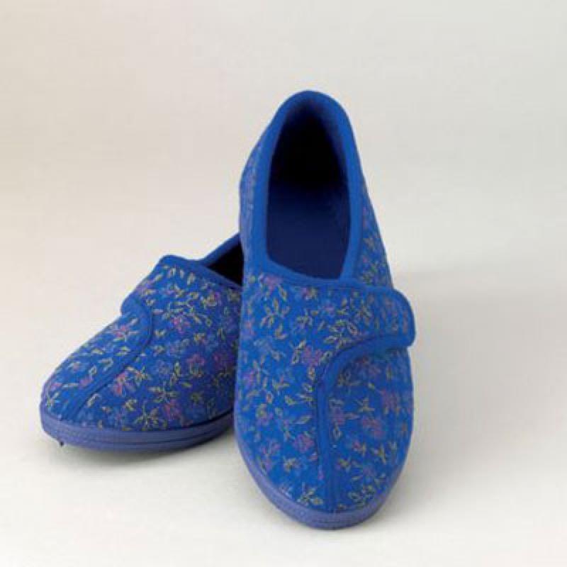 Ladies Comfort Slippers Blue 4