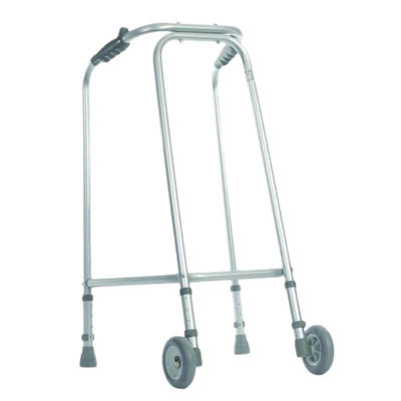 Aluminium Narrow Walking Frame with Wheels
