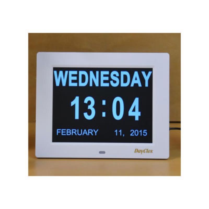 DayClox 8 Inch Digital Day Clock