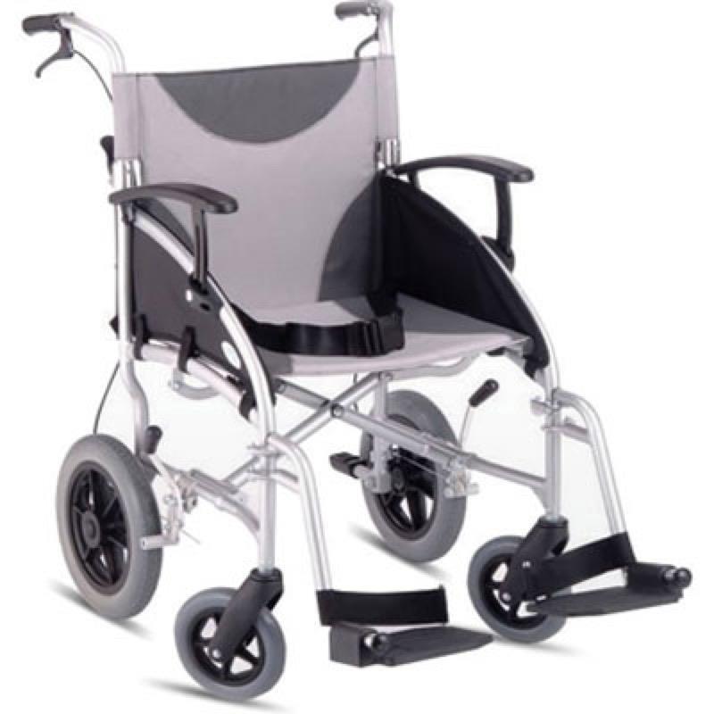 Z- Tec Lightweight Folding Aluminium Transit Wheelchair