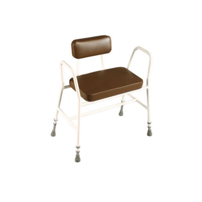 Bariatric Perching Stool with Padded Back