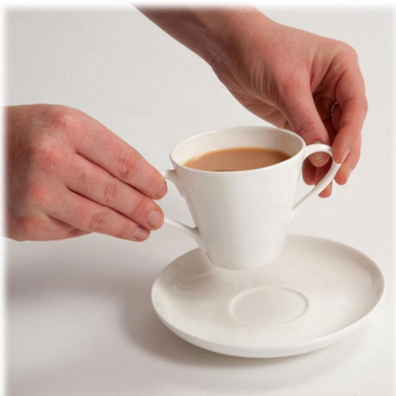 Two Handled Cup and Saucer