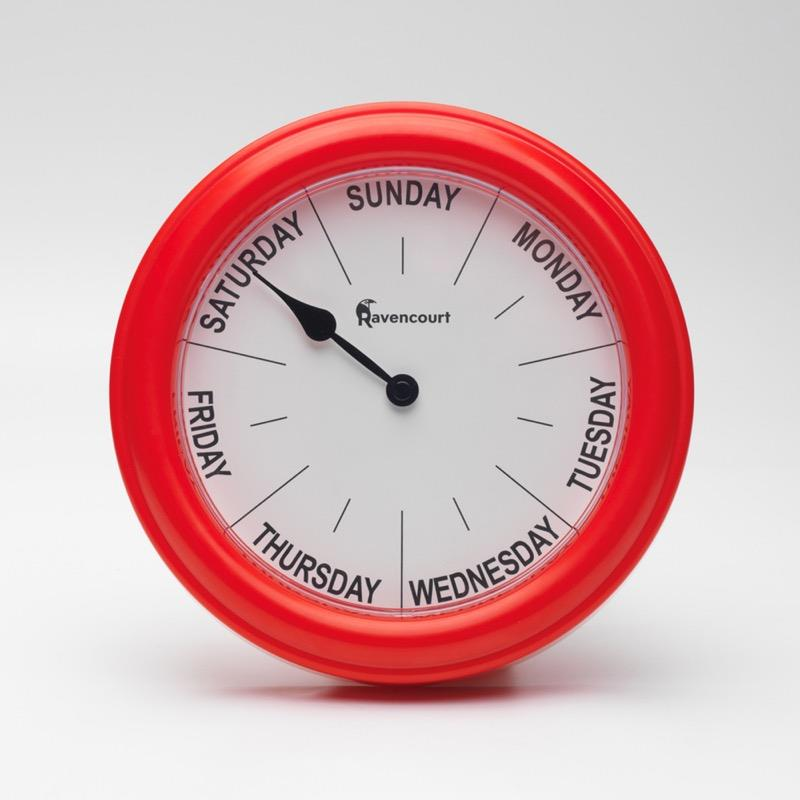 Red Dementia Clock