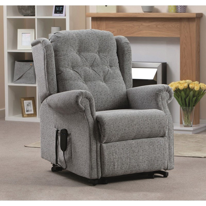Button Back Riser Recliner - Dual Motor
