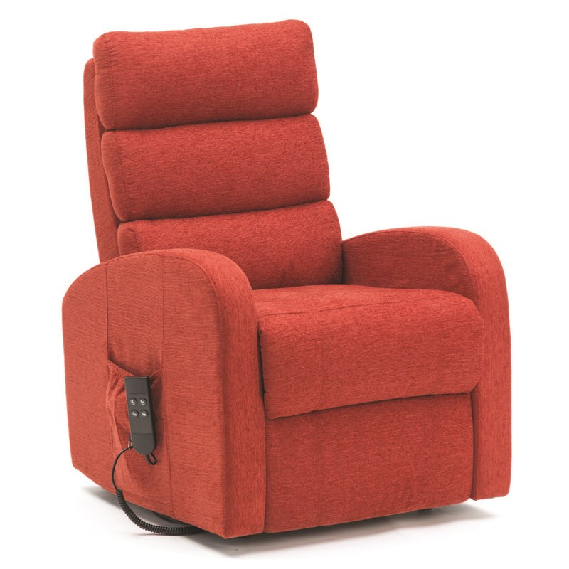 Three Pillow Dual Motor Fabric Riser Recliner