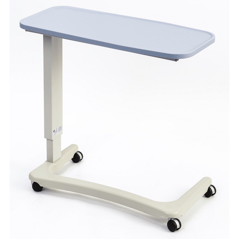 NRS Easy Lift Overbed Table in Blue (wheelchair base)