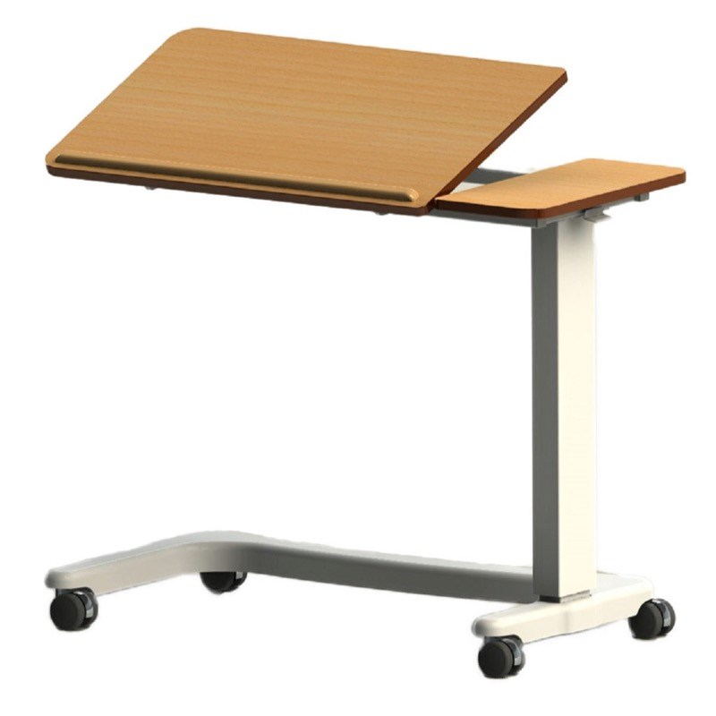 NRS Easy Lift Overbed Table in Beech (Tilt top wheelchair base)