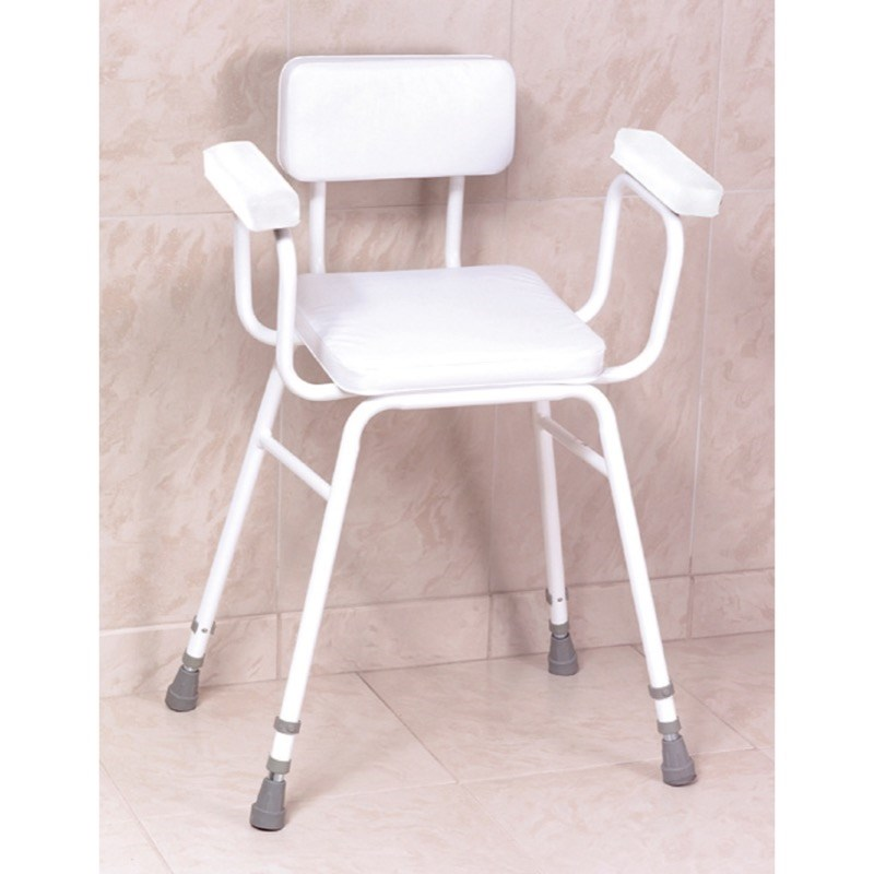 Malvern Perching Stool with arms and back