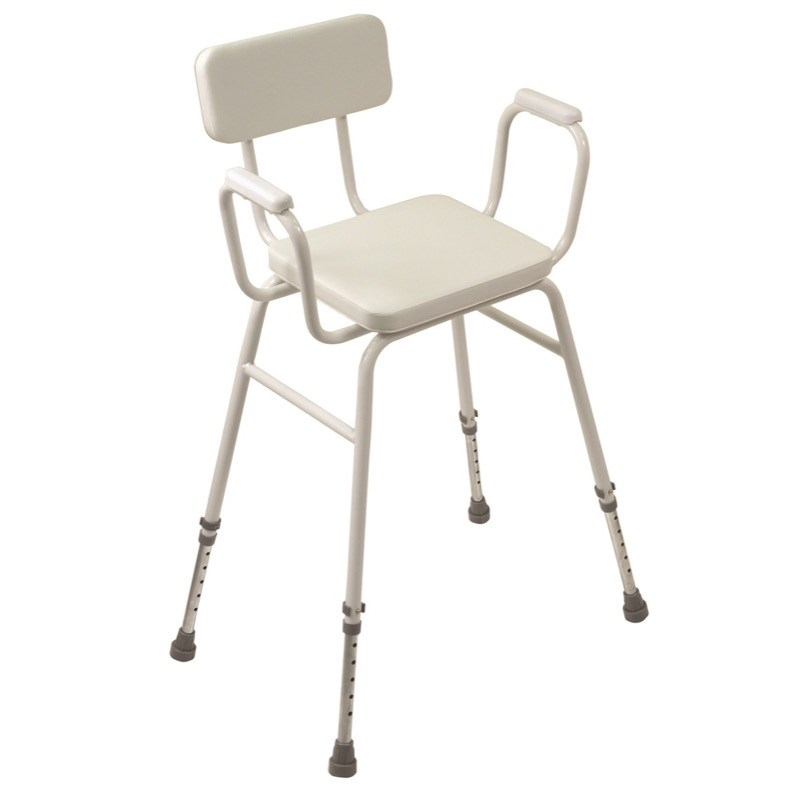 Malling Perching Stool (Padded Arms and Backrest)