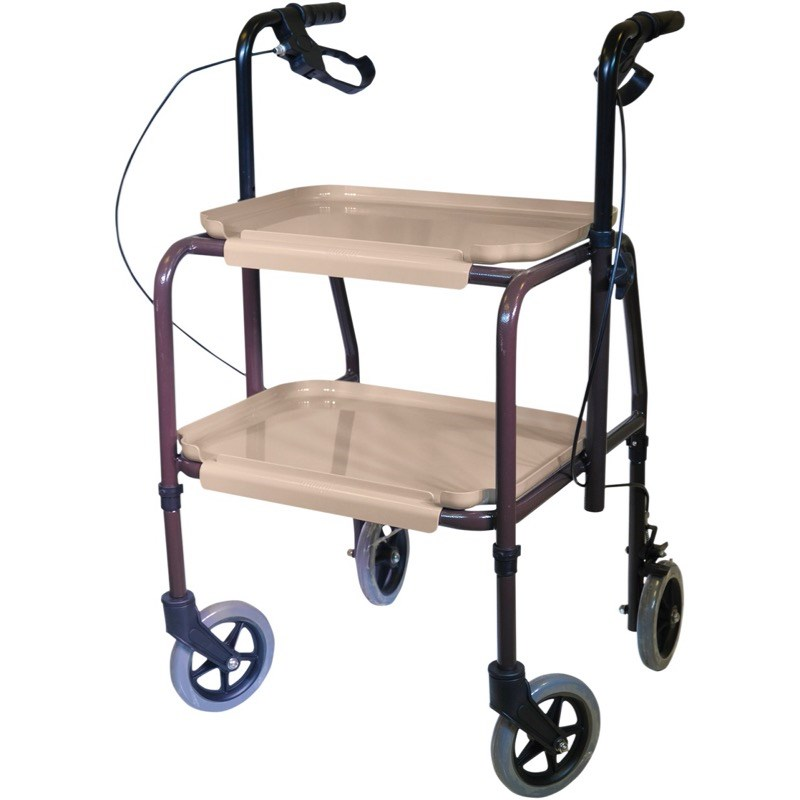 Height Adjustable Kitchen Trolley with Brakes